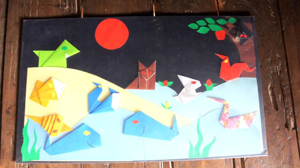 Origosistem: Belajar Ilmu Sains dan Sosial dengan Kolase Origami